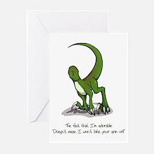 Adorable Velociraptor Greeting Cards (Pk of 10