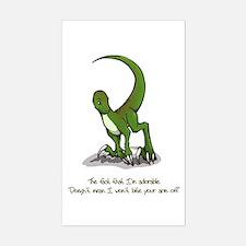 Adorable Velociraptor Rectangle Decal