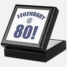 Legendary At 80 Keepsake Box
