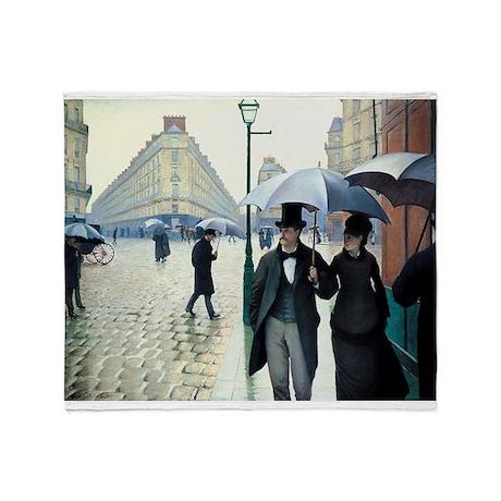 Paris Street, Rainy Day Throw Blanket