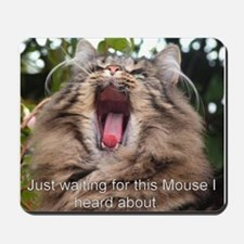 Mousepad with cat humour