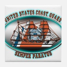 USCG Coast Guard Eagle Tile Coaster