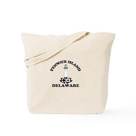 Fenwick Island DE - Lighthouse Design Tote Bag