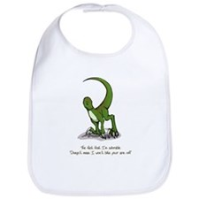 Adorable Velociraptor Bib