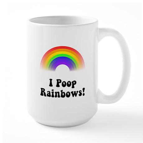 I Poop Rainbows Large Mug
