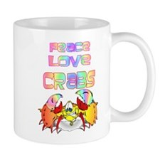 Peace Love Crabs Small Small Mug