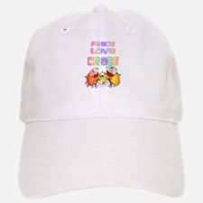 Peace Love Crabs Baseball Baseball Cap