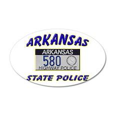 Arkansas State Police 22x14 Oval Wall Peel