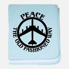 B-52 Peace the Old Fashioned Way baby blanket
