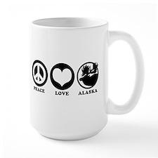 Peace Love Alaska Mug