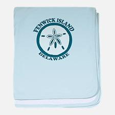 Fenwick Island DE - Sand Dollar Design baby blanke