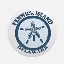 Fenwick Island DE - Sand Dollar Design Ornament (R