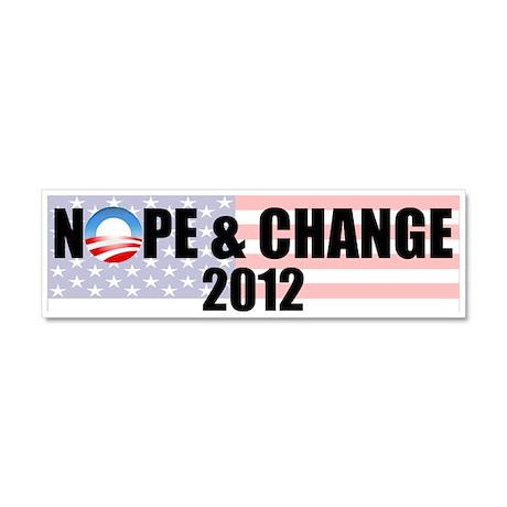 Nope & Change Car Magnet 10 x 3