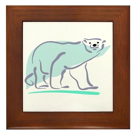 Polar Bear100 Framed Tile