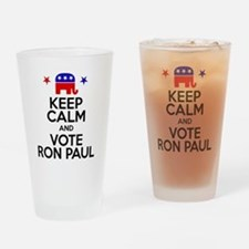 Keep Calm Vote Ron Paul Drinking Glass