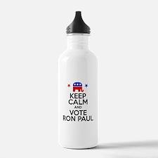 Keep Calm Vote Ron Paul Water Bottle