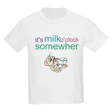 It's Milk O'clock Somewhere T-Shirt