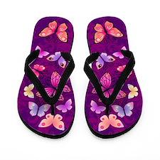 Swirls&Butterflies Purple Flip Flops