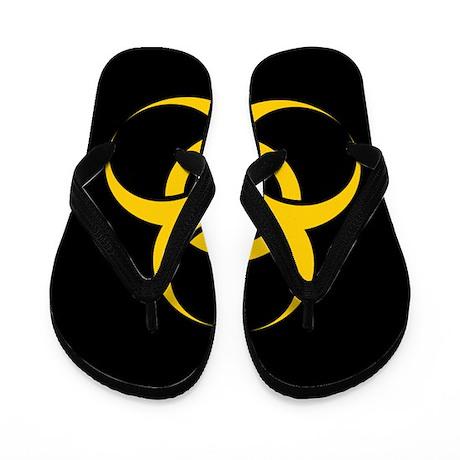 Big Biohazard Black Flip Flops
