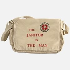 The Janitor is the Man Messenger Bag