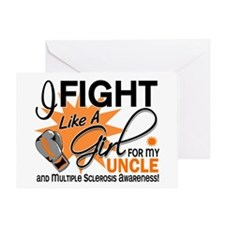 Fight Like A Girl For My MS Greeting Card