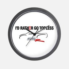 I'd Rather Go Topless Wall Clock