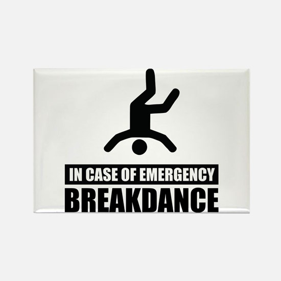 In case of emergency breakdan Rectangle Magnet