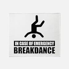 In case of emergency breakdan Throw Blanket