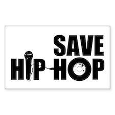 Save Hip-Hop Rectangle Decal