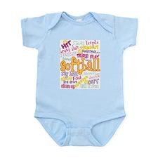 Softball Infant Bodysuit
