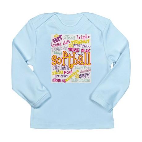 Softball Long Sleeve Infant T-Shirt
