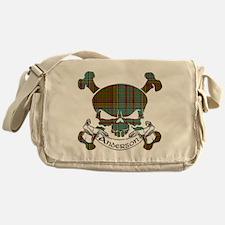 Anderson Tartan Skull Messenger Bag