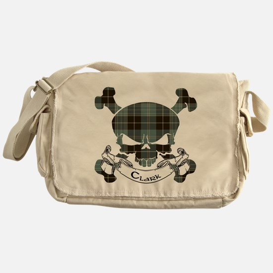 Clark Tartan Skull Messenger Bag