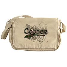 Cooper Tartan Grunge Messenger Bag