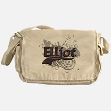 Elliot Tartan Grunge Messenger Bag