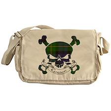 Gordon Tartan Skull Messenger Bag