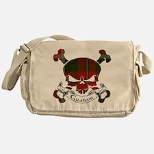 Graham Tartan Skull Messenger Bag