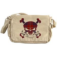 Hamilton Tartan Skull Messenger Bag