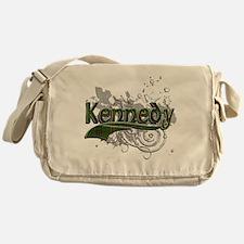 Kennedy Tartan Grunge Messenger Bag