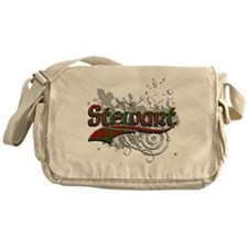 Stewart Tartan Grunge Messenger Bag