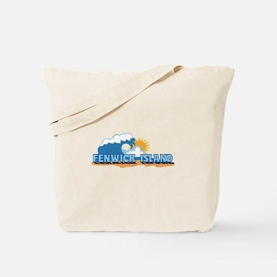 Fenwick Island DE - Waves Design Tote Bag