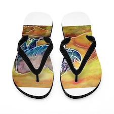 Rhino, colorful, art, Flip Flops