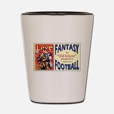 Old School Fantasy Football Shot Glass