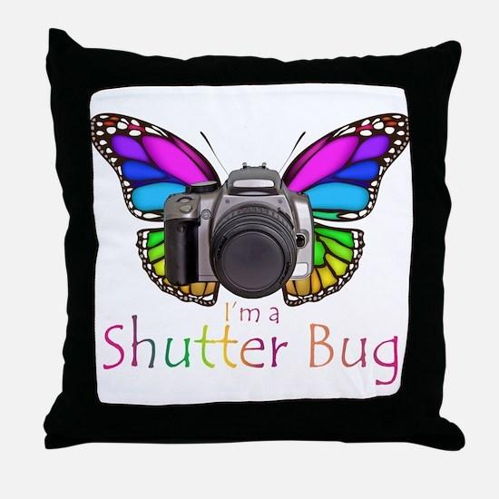 Shutter Bug Throw Pillow