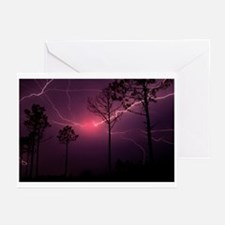 Red Lightning, Cape Fear, NC Greeting Cards (Pk of
