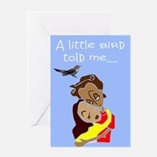 cute expecting new baby Greeting Card