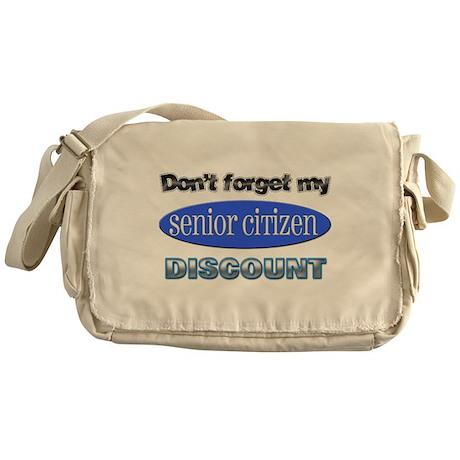 Senior Citizen Discount Messenger Bag