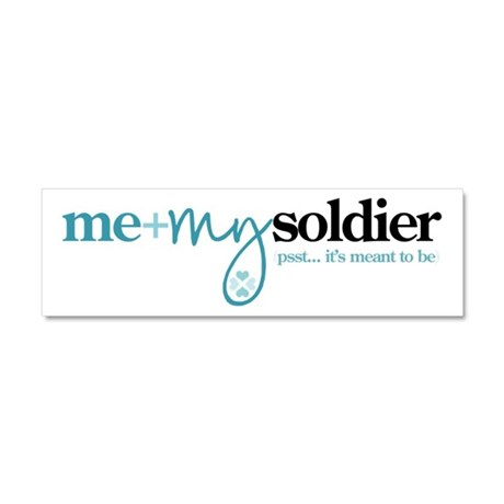 Me + My Soldier Car Magnet 10 x 3