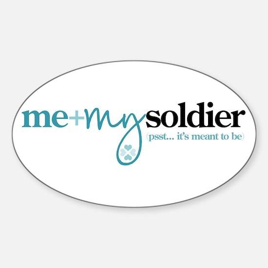 Me + My Soldier Sticker (Oval)