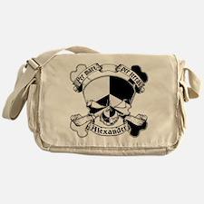 Alexander Family Crest Skull Messenger Bag
